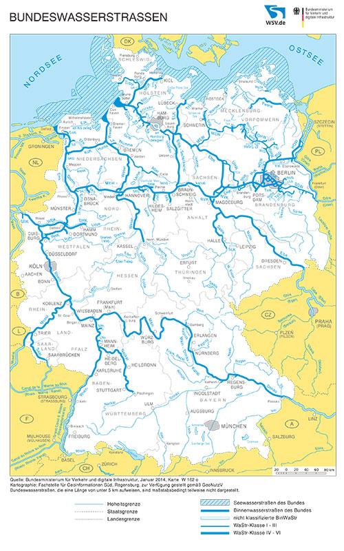 kanäle in deutschland karte Wasserstraße – BDB